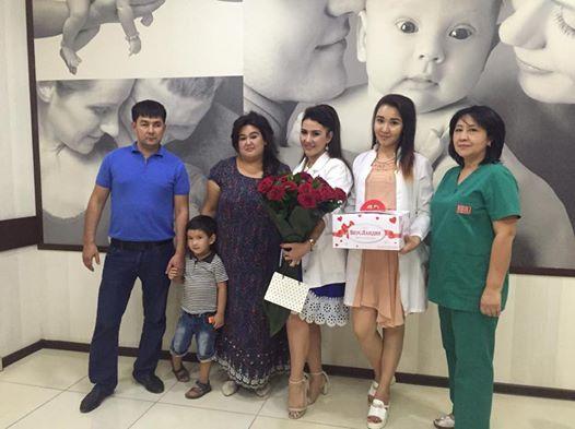 Мадина и ее муж испытали счастье стать родителями впервые благодаря врачам Доктор Шахноза Файз !